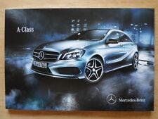MERCEDES BENZ A CLASS orig 2012 UK Mkt prestige sales brochure
