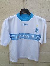 VINTAGE Maillot OLYMPIQUE de MARSEILLE OM Adidas RAVANELLI maglia Ericsson 12 an