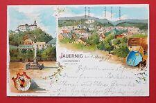 Litho AK JAUERNIG in Mähren 1899 Schloss Johannesberg und Ortsansicht    ( 30964
