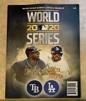 2020 World Series Program LA Dodgers vs Tampa Bay Rays NEW DENTED CORNER