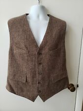 Harris Tweed Marshall Fields Wool Vest Size Large