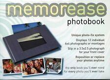 "Memorease Photobook for 12 6x4"" Beautiful Quality Self adhesive Photo Album Grey"