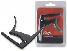 Stagg Black Trigger Capo for Ukuleles and Banjos