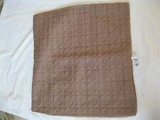 One (1) - Vera Wang PLAZA SUITE LINEN Quilted EURO SHAM -  TAUPE =NWT'S