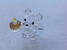 "***Swarovski Crystal Figurine 2008 KRIS BEAR, ""YOUR BIG DAYl"""