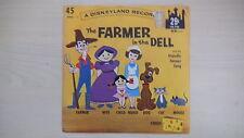 Disneyland Record Walt Disney's THE FARMER IN THE DELL 45 RPM 1962