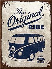 Volkswagen Camper The Original Ride Métal Réfrigérateur Aimant (Pas Applicable)