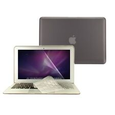 "3 in 1 Rubberized GREY Case for Macbook AIR 13"" A1369 + Key Cover + LCD Screen"