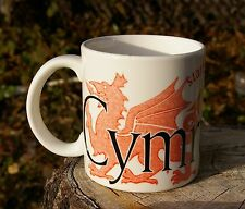 Starbucks Coffee Company Cymru Wales City Mug Collector Series Mug 2002 Welsh