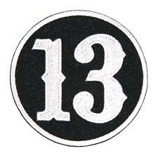 Circle 13 Patch EMROIDERED IRON ON BIKER MC PATCH