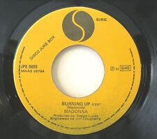 "MADONNA ""BURNING UP"" rare 7' promo jb Italy mint"