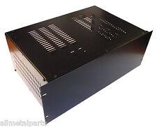 6U  Rack mount enclosure chassis case,for 19 inch rack 300mm deep, in black