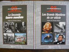 Lot de 2 livres  Les grands événements du 20e siècle