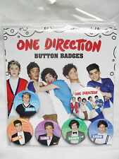 OFFICIAL ONE DIRECTION 1D BUTTON BADGE PACK OF SIX (5 X 25MM 1 X 32MM) 325