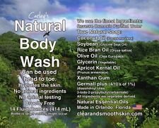 Carley's Body Wash. Makes your skin feel clean and hydrated and moist.