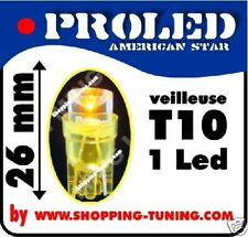 2 Ampoule 1 LED Pro T10,orange repetiteur crystal WY5W