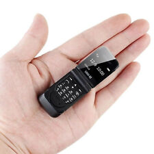 "Mini Flip Mobile Phone LONG-CZ J9 0.66"" Smallest Cell Phone Wireless Bluetooth"
