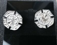 Fire Department Sterling Silver Cufflinks Mens Jewelry 925