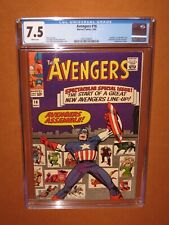 Avengers #16 CGC 7.5 WHITE pages! Hawkeye joins + 2 more!12 HD pix Ships INSURED