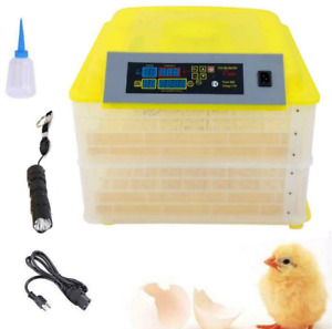 112 Eggs Chicken Goose Incubator Automatic Egg Incubator Poultry Hatcher 110V