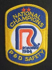 ROADWAY SEW ON PATCH NATIONAL CHAMPIONS P D SAFETY TRUCK 1984 ~ 3