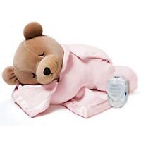 PL Pink Slumber Bear Lull Baby Comforter Soft Cot Toy Real Womb Sound Player