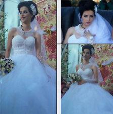 Beading Lace Plus Size A-line Wedding Dresses