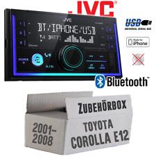 JVC Radio für Toyota Corolla E12/120 Autoradio Bluetooth MP3 USB PKW Einbauset
