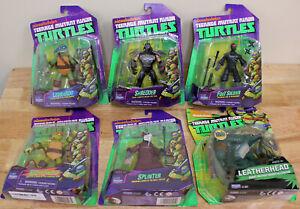 Lot of 6 Teenage Mutant Ninja Turtles Action Figures Playmates Splinter,Shredder