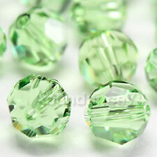 8 Pieces Swarovski 5000 faceted 10mm Round Ball Beads Crystal PERIDOT