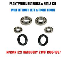 Fits:Nissan D21 Hardbody Front Wheel Bearings & Seals Kit 1986-1997 2WD
