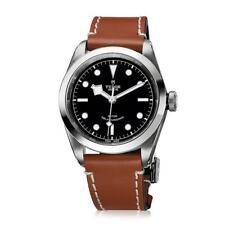 AUTHENTIC NEW TUDOR HERITAGE BLACK BAY 41mm LEATHER STRAP WATCH M79540-0007