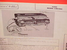1946 1947 1948 FORD SUPER DELUXE V-8 SIX CONVERTIBLE AM RADIO SERVICE MANUAL 1