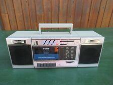 Vintage Sony Cfs-3000 Stereo Radio Cassette Recorder Boombox Ghetto Blaster