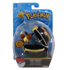 Pokemon Tomy Clip 'N' Carry Pokeball w/Figure - EEVEE w/Luxury Ball (2 inch)