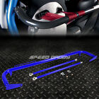 """49"""" STAINLESS STEEL RACING SAFETY SEAT BELT CHASSIS ROLL HARNESS BAR ROD BLUE"""