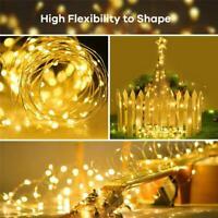 200 Catena Luminosa LED Solare Filo di Rame Luci Illuminazione Esterna Natale