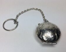 Vintage Sterling Silver Finger Power And Mirrow Compact (J152)