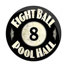 8 Ball Pool Hall Tin Metal Sign Billiards Bar Game Room