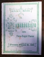 RARO PANOROGRAFO STRUMENTO A LIBRETTO ORIGINALE D'EPOCA /meridiana/orologio