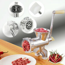 Pesado Picadora Amoladora De Carne Molino Mano Operado Cocina Manual Embutidora
