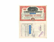 1940 MAGMA COPPER COMPANY Stock Certificate 2 Shares MAINE  Cancelled USED