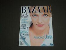 1995 JUNE HARPER'S BAZAAR MAGAZINE - UMA THURMAN COVER - SP 4534