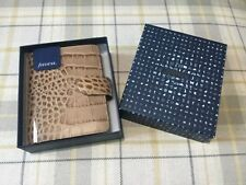 filofax pocket croc leather planner organiser in colour fawn BRAND NEW
