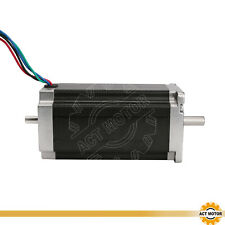 1PC Nema23 Schrittmotor 23HS2430B 3A 112mm 425oz-in Dual Shaft Stepper ACT MOTOR