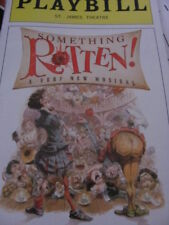 SOMETHING ROTTEN Playbill OBC Broadway Musical CHRISTIAN BORLE