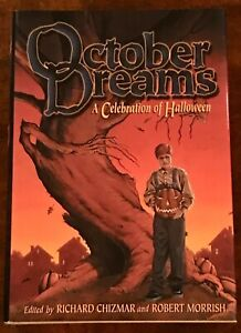 RARE RICHARD CHIZMAR - OCTOBER DREAMS w/ BLACK PUMPKIN by DEAN KOONTZ HC 1st Ed.