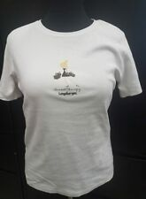 Longaberger Basket Therapy Top T-Shirt White with girl holding baskets Size L