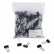 Universal Small Binder Clips Zip Seal Bag 38 Capacity 34 Wide Black 144bag