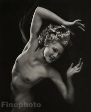 1938 Vintage FEMALE NUDE England Hair ROSEMARY ANDREE Photo Art Deco WALTER BIRD